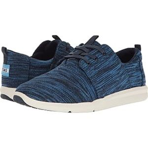 NEW Toms Del Rey Sneakers Nautical Blue Multi Knit